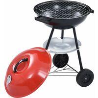 Barbecue portable XXL au charbon avec roues 44 cm9114-A