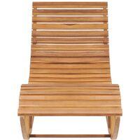 Chaise longue à bascule Bois de teck solide9455-A