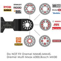 MVPOWER 23 Pcs Outil Multifonction Saw Blades Accessoires Kit, Coffret des Accessoires d'Outil Multifonction Oscillant universelle pour Multimaster, Milwaukee, Einhell