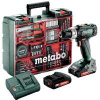 Metabo Perceuse à percussion sans fil SB 18 L Set, Atelier mobile, Coffret, 18V 2x2Ah Li-Ion + SC 30 - 602317870