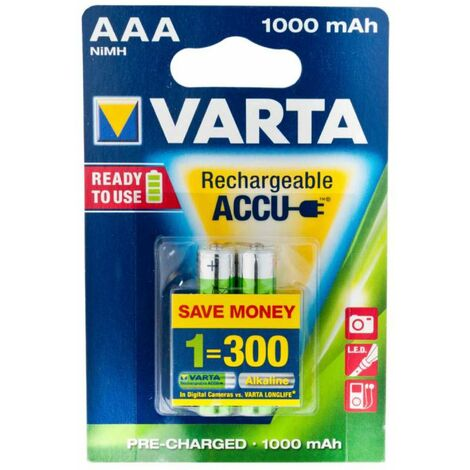 Pile rechargeable AAA R3 Varta 2 pièces
