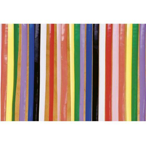 rideau de porte lanieres plastique multicolore multicolore