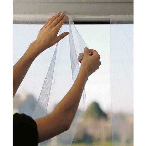 Moustiquaire souple 1 panneau blanc 150 x 180 cm - Gris