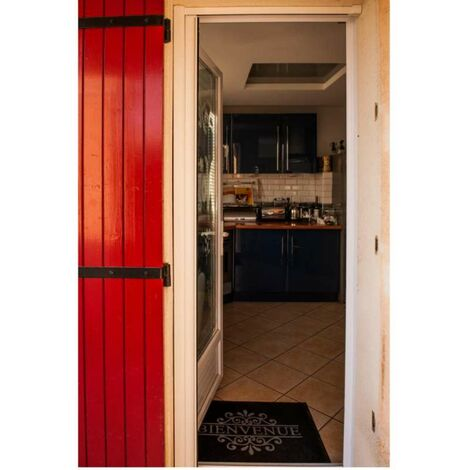 Porte moustiquaire aluminium  140x225cm  blanc Werkapro