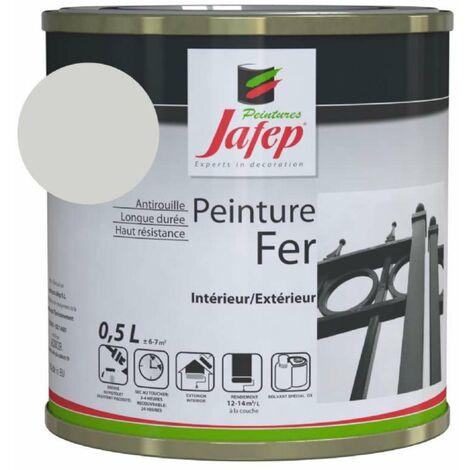 Peinture fer antirouille gris métal Jafep 0,5 L