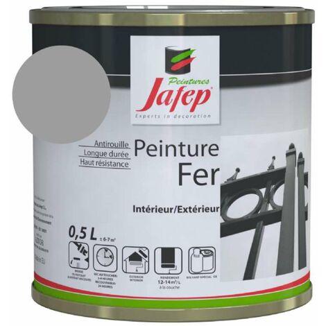 Peinture fer antirouille gris souris Jafep 0,5 L