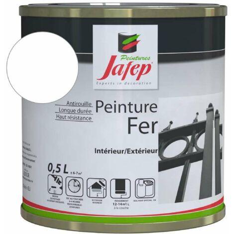 Peinture fer antirouille blanc Jafep 0,5 L