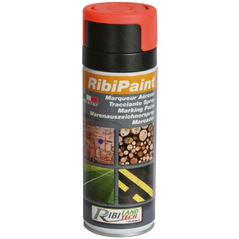 Bombe de peinture de marquage Ribimex 400 ml Rouge Fluo