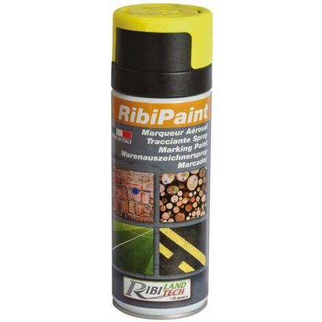Bombe de peinture de marquage Ribimex 400 ml Jaune Fluo