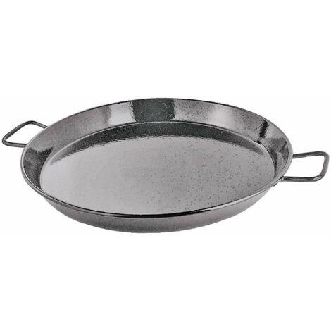 Plat à paella en métal avec 2 poignées ø 46cm