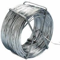 Rouleau de fil de fer galvanise 50 Mètres - Gris