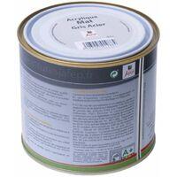 Peinture acrylique mate gris acier Jafep  0,5L