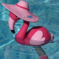 Thermomètre piscine flamant rose 28 cm