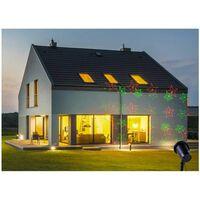 Projecteur façade étoiles-flocons avec télécommande