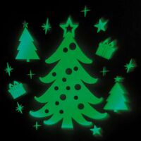 Projecteur façade sapin de Noël vert