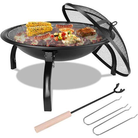 FIXKIT Barbecue Grill Extérieur Portable,Pliable,Petit Brasero d'extérieur au Charbon,Jardin Grill brasero,pour Jardin Terrasses BBQ,Le Barbecue en Plein air,Le Camping et Le Pique-Nique