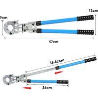 FIXKIT Pince à Sertir Multicouche U Pince à Sertir 360° pour Tube Contour avec Mors Multicouche 16mm-20mm-26mm-32mm pour Tube PEX Tube Composite Ajustable (U)