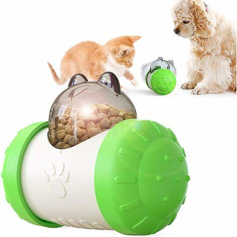 kueatily Distributeur lent interactif pour animaux de compagnie! Boule de voiture roulant balle lente de fuite de nourriture 5.74in * 4.29in * 3.03in-vert blanc