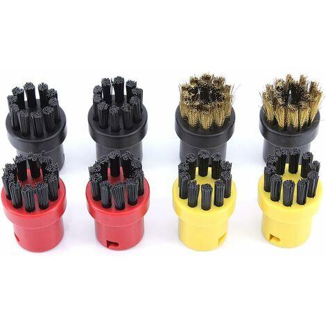 kueatily Lot de 8 brosses de nettoyage à vapeur pour Kärcher SC1 SC2 CTK10 SC3 SC4 SC5 SC7