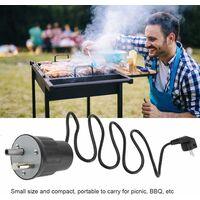 kueatily Moteur Tourne Broche de Barbecue Moteur Eléctrique Camping en Aluminium Kit Rôtissoire Barbecue Charge Nominale 0-24kg(EU Plug)
