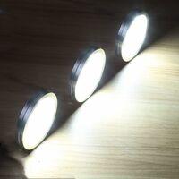kueatily Lampe de Placard led 4er Éclairage Sous Meuble Rechargeable Lumière Armoire Applique Murale pour Cabinet Penderie Cuisine Entrée Vtrine Couloir Toilette Blanc Froid [Classe énergétique A++]
