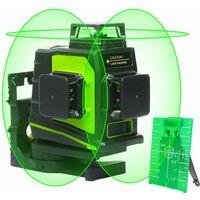 Huepar Niveau Laser Vert ¨¤ 3x360, Laser Level Auto-nivellement Commutable ¨¤ 360 degr¨¦s 12 Laser Lignes 3D avec Mode Impulsion, Port de Charge USB, Batterie Li-ion et Support Magn¨¦tique inclus - GF360G
