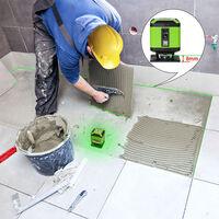 Huepar Niveau laser au sol Faisceau vert Installation niveau avec Mode de commutation de ligne pour Tile Nivellement carr¨¦ de pose Laser en croix FL360G-L avec batterie li-ion
