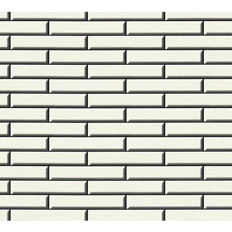 3D Effect Stone Wall Apron Brick Wallpaper Tile Vinyl White Black Embossed