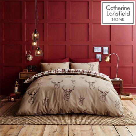 Catherine Lansfield Stag Easy Care Single Duvet Set Multi