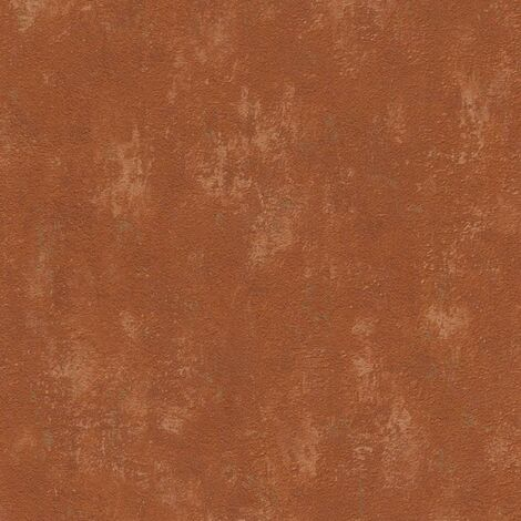 Distressed Concrete Themed Wallpaper Orange Textured Vinyl Paste The Wall