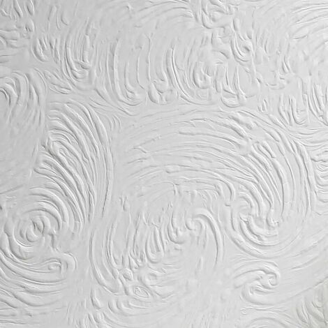 Richard Anaglypta Paintable Wallpaper White Textured Embossed Ceilings Vinyl