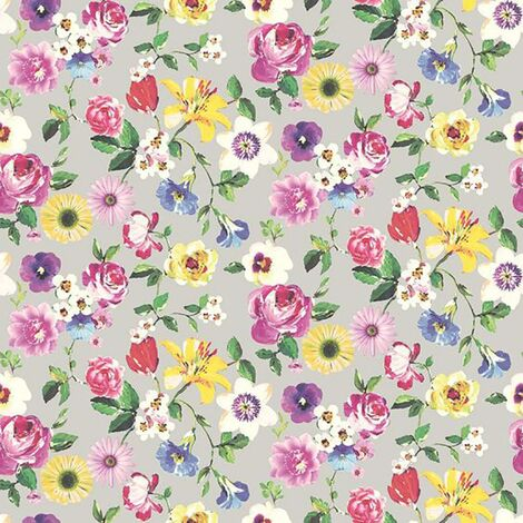 Lizzie Floral Wallpaper Holden Grey Pink Purple Red Yellow Paste The Wall