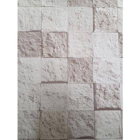 Grey Slate Stone Brick Effect Wallpaper Metallic Distressed Paste The Wall Vinyl