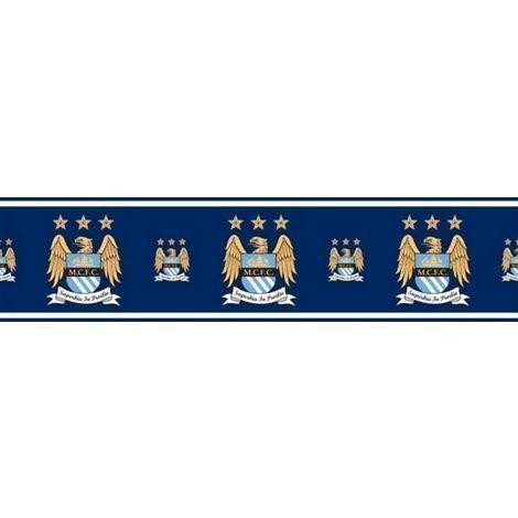 Official Manchester City Football Wallpaper Border MCFC Soccer Blues Etihad 5m