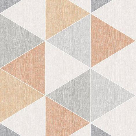 Orange Scandi Triangle Wallpaper Apex Modern Luxury Abstract Geometric Arthouse