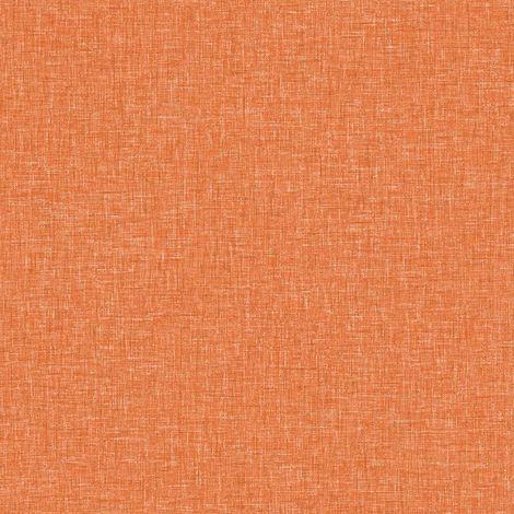 Arthouse Linen Textured Vintage Orange Wallpaper Plain Woven Effect Spongeable
