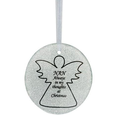 Nan Angel Christmas Tree Memorial Tribute Ornament Bauble Decoration Xmas