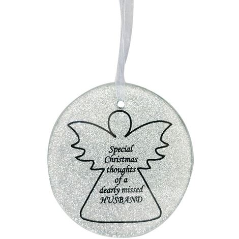 Husband Angel Christmas Tree Memorial Tribute Ornament Bauble Decoration Xmas