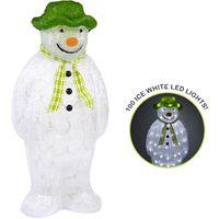 The Snowman Acrylic Figure LED Lights Garden Outdoor Christmas Decoration 55cm