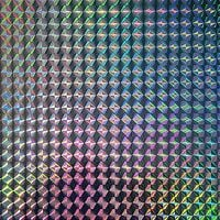 Fablon Holographic Mosaic Silver Stationary Crafts Self Adhesive Film Vinyl