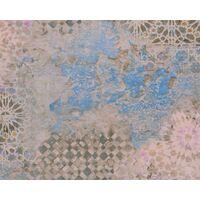 Antonio Barcelona Metropolitan Stories Tile Effect Industrial Vinyl Wallpaper