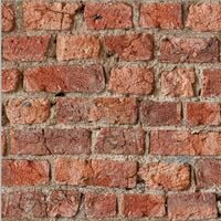 Arthouse Artistick Self Adhesive Sticky Back Wallpaper Brick Effect Red Orange