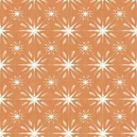 Galerie Orange And White Star Tile Effect Wallpaper Smooth Finish Wall Covering