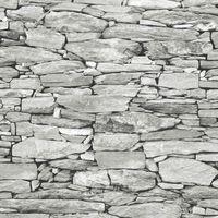 Brick Effect Wallpaper Slate Stone Rustic Weathered Realistic 3D Grey Debona
