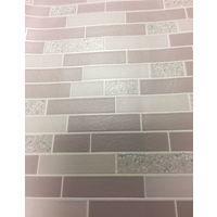 Tile Effect Wallpaper Glitter Brick Oblong Granite Stone Kitchen Bathroom Holden