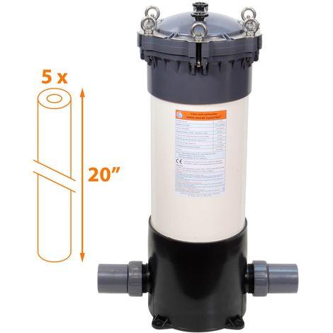 Filtre multi-cartouches - 5 x 20 pouces - FHPVC-20x5-B2 Crystal Filter®