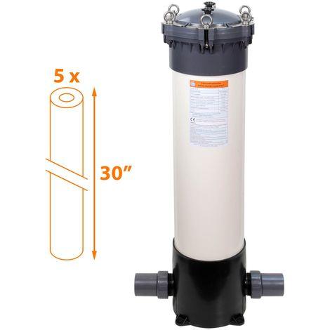 Filtre multi-cartouches - 5 x 30 pouces - FHPVC-30x5-B2 Crystal Filter®