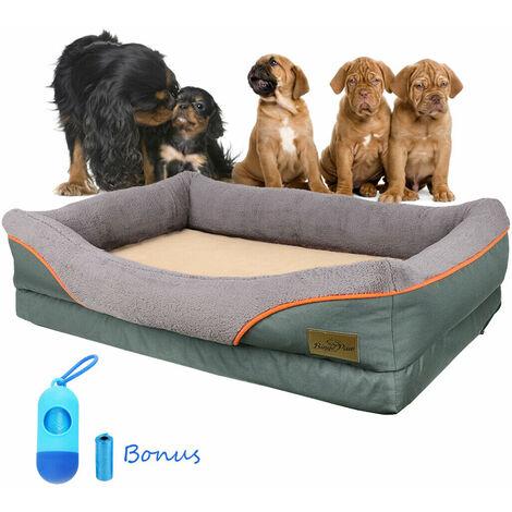 Jumbo Orthopedic Dog Pet Bed Warm Pillow Mattress Eases Pet Arthritis & Hip Pain, XL 51 x 35.4 x 9 inch
