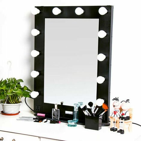 Large Vanity Mirror with Light Dressing Table Makeup Mirror with dimmer + Bulbs