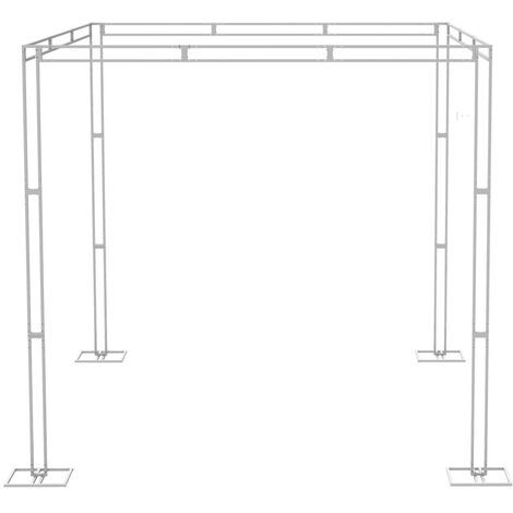 10ft Backdrop Stand Kit Adjustable Height Wedding Ceremony Canopy Chuppah Studio